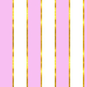 Puttin' on the Ritz Stripe in Lilac and Gilt