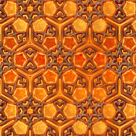 Flaming Hearts and Butterflies fabric by eclectic_house on Spoonflower - custom fabric