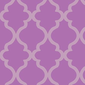 Quatrefoil - Mauve on Orchid