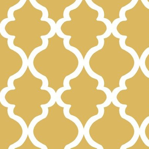 Quatrefoil - Misted Yellow