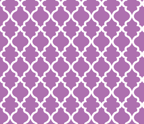 Quatrefoil - Orchid fabric by joyfulrose on Spoonflower - custom fabric