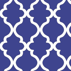 Quatrefoil - Royal Blue