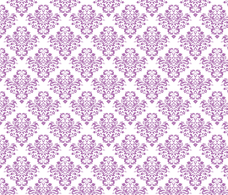 Damask - Orchid fabric by joyfulrose on Spoonflower - custom fabric