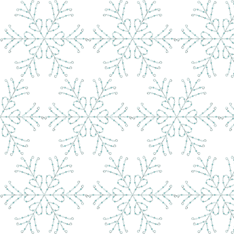 Snow Queen Elsa Snow Flakes fabric by tiffanyhoward on Spoonflower - custom fabric