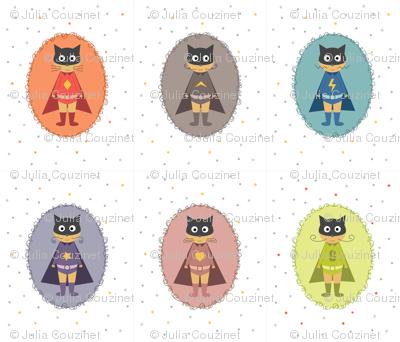 Supers chats héros panneau