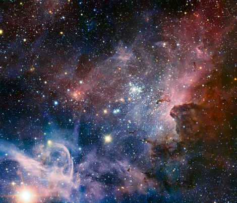 Carina Nebula fat quarter fabric by spacefem on Spoonflower - custom fabric