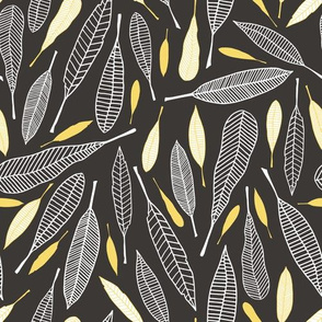 Fanciful Feathers Dark (Bold)