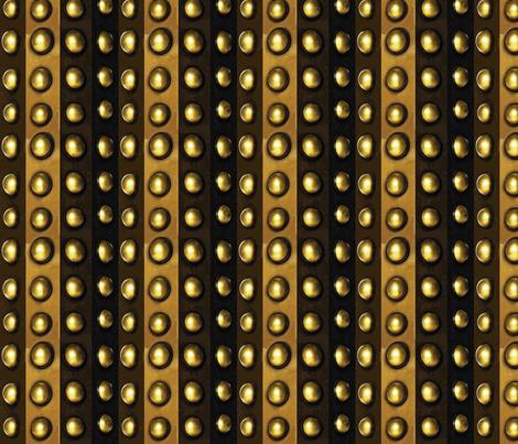 Striped Metallic Dots, Bronze, Brass, Gold fabric by bohobear on Spoonflower - custom fabric
