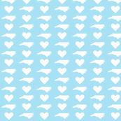 NC Love LightBlue&White