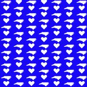 NC Love - Blue&White