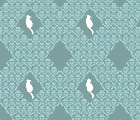 Raqua_gray_teal_damask_seamless_white_cats_shop_preview