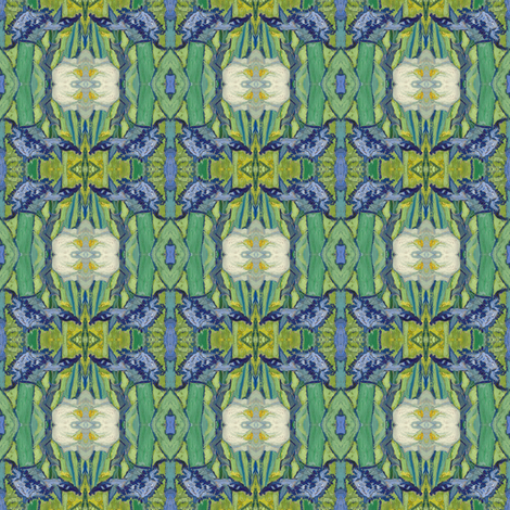 VanGogh_iris_square17a_6in_repeat2 fabric by michelleseye on Spoonflower - custom fabric