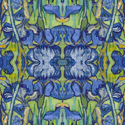 VanGogh_iris_Square20a_repeat