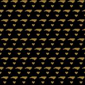 NC Little Hearts - Black&Gold