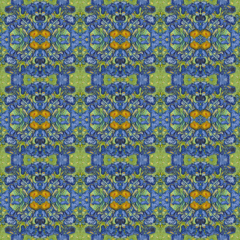 VanGogh_Irises_square14b_Repeat fabric by michelleseye on Spoonflower - custom fabric
