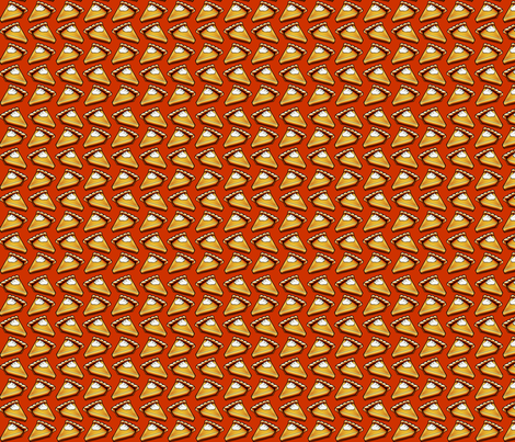 Pumpkin Pie Time: Autumn Orange fabric by chloejanowski on Spoonflower - custom fabric