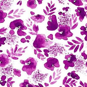 Floret Floral Pattern in Magenta Purple