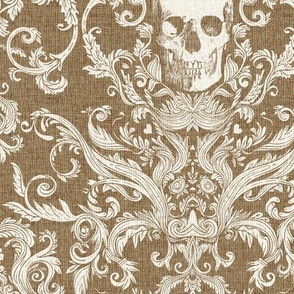 Dread Damask in Burlap