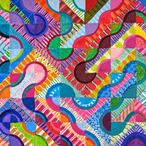 gypsy cheater quilt deeper colors