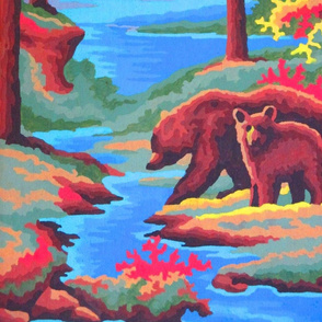mom & baby bear woods teepee