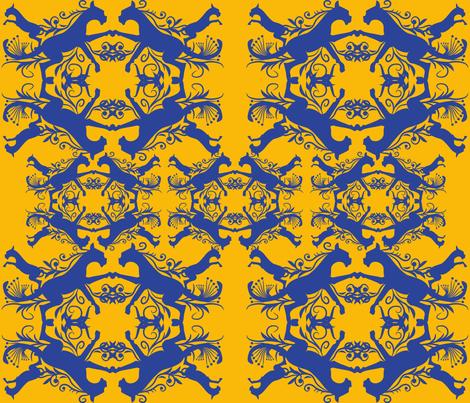 damaskpurple fabric by scifiwritir on Spoonflower - custom fabric
