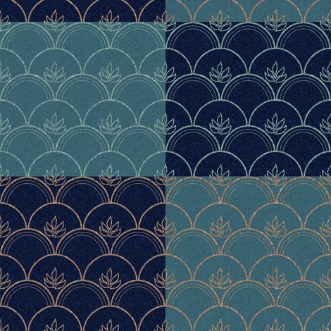 4clamshells-color-test-dpAquamarine-StarryNight fabric by mina on Spoonflower - custom fabric