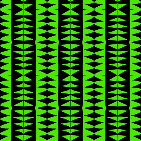 Sawtooth Columns Green Black fabric by eve_catt_art on Spoonflower - custom fabric