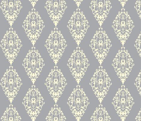 Catnip Damask fabric by abellerie on Spoonflower - custom fabric