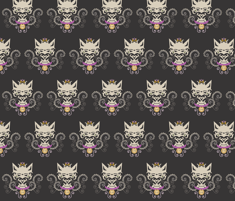 le chat-black fabric by pamela_hamilton on Spoonflower - custom fabric