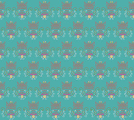 le chat aqua fabric by pamela_hamilton on Spoonflower - custom fabric