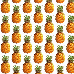 Medium pineapples close