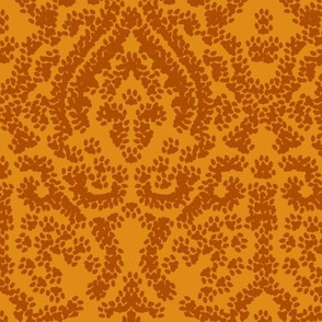 Damask painted by a kitten
