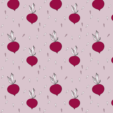 beet root - elvelyckan fabric by elvelyckan on Spoonflower - custom fabric