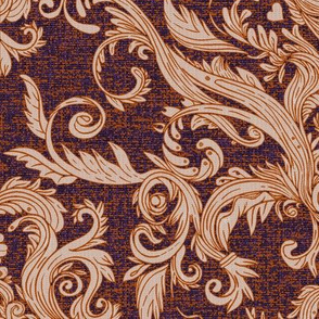 Dread Damask in Halloween Burlap