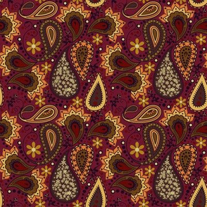 Autumn Paisley Love