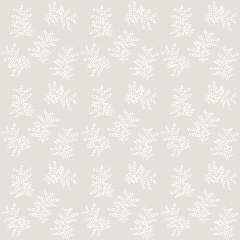 Delicate Ferns on Vintage Cotton fabric by thistleandfox on Spoonflower - custom fabric