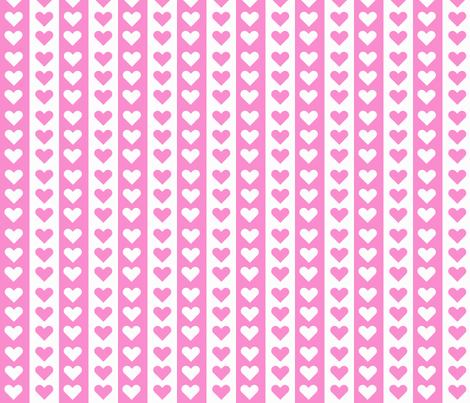Lovely Stripes - Pink fabric by morganleal on Spoonflower - custom fabric
