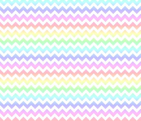 Pastel Rainbow White Chevron Fabric By 13moons Design On Spoonflower