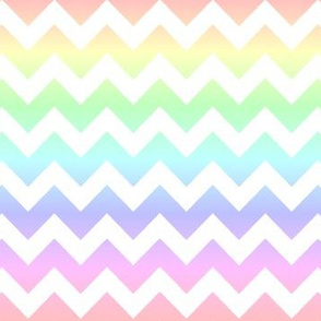 Pastel Rainbow White Chevron