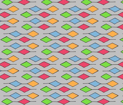 diamonds in a row fabric by mattieanne on Spoonflower - custom fabric