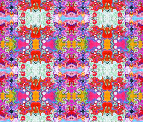 Trippy Flower fabric by rberlin on Spoonflower - custom fabric