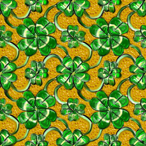 Four Leaf Clover Shamrock fabric by eclectic_house on Spoonflower - custom fabric