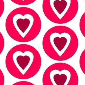 Maroon Heart Circle