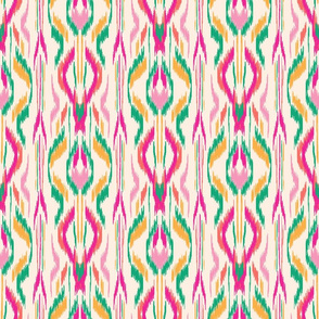 Ikat Stripe Pink Orange