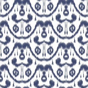 Ikat Waves Indigo