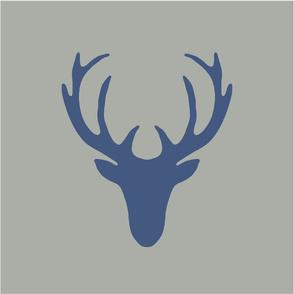 16 inch seaview simple deer head navy gray