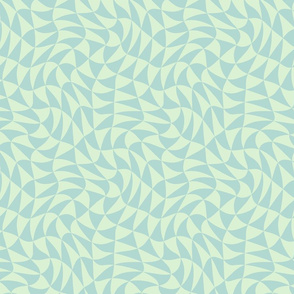triangle swirl in pale mint