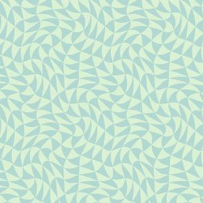 triangle swirl in pale mint