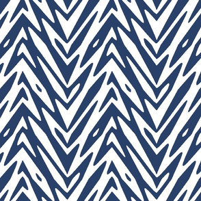 feather mountains in navy and white