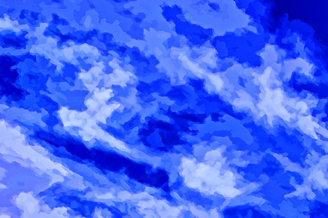 Cloud Abstract - Blue-FQ fabric by abeautifulsky on Spoonflower - custom fabric